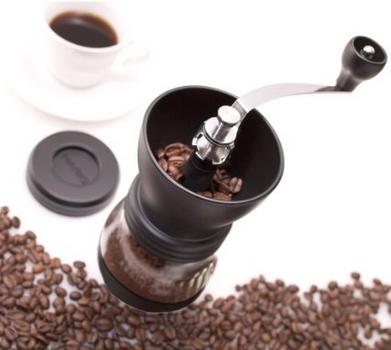 Hario Medium Glass Hand Coffee Grinders with Ceramic Burrs 1